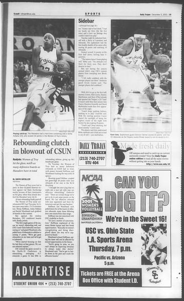 Daily Trojan, Vol. 144, No. 65, December 05, 2001