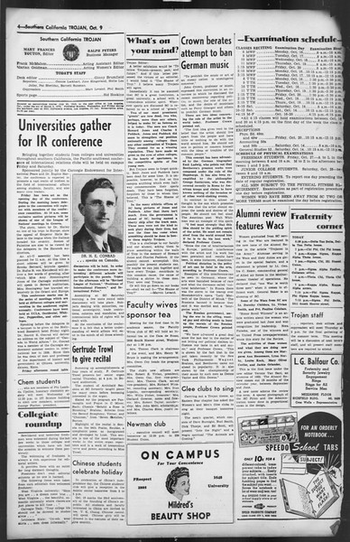 The Trojan, Vol. 35, No. 174, October 09, 1944