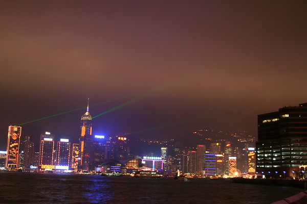 Light Show at Victoria Harbour - 27 February 2007