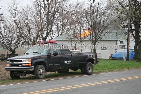 5/2/14 - Dansville garage fire, 1644 S. Dietz Rd