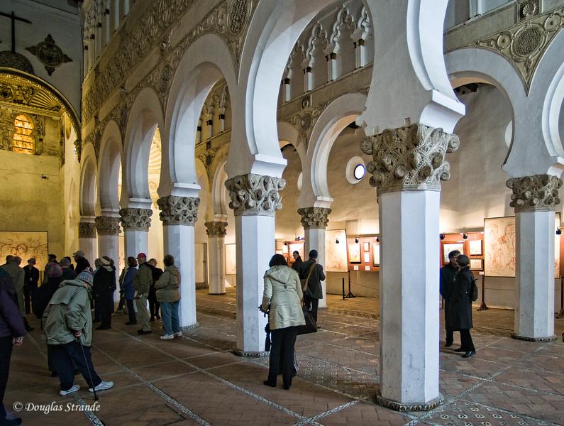 Wed 3/09 in Toledo: inside the Santa Maria la Blanca Synagogue