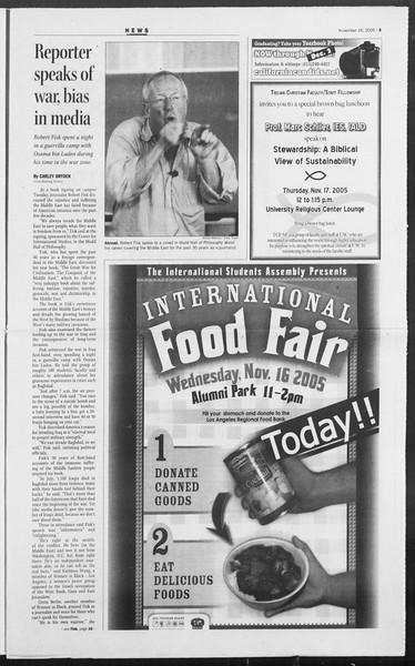 Daily Trojan, Vol. 156, No. 60, November 16, 2005