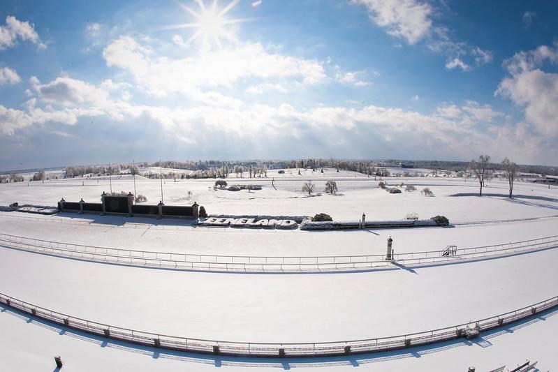 Keeneland Winter Scene 1.30.2009 (EquiSport Photos/Matt Wooley)