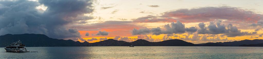 Caribbean Sunset Panorama