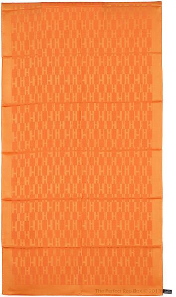 Grand H - Scarf Faconne - Orange - 75x180 cm - NWCT - Ref 1309231621