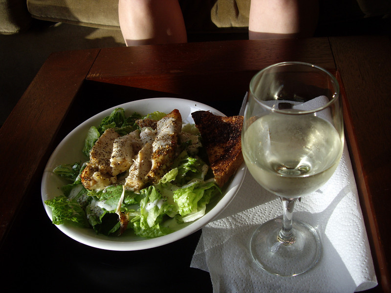 Grilled chicken ceaser salad.