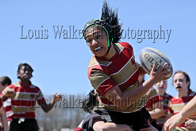 Women's Rugby Boston College vs UMass Amherst at Portsmouth, RI on 4/17/16