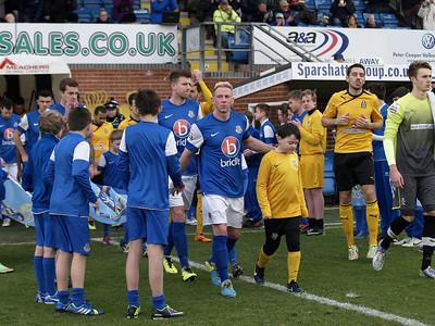 Eastleigh (0) v Cambridge United (1) FA Trophy Q Final 1.2.2014