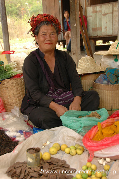 Pao Vendor, Nam Pan Market - Inle Lake, Burma