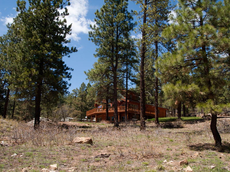 5/25 - We dropped off our laundry at a laundromat, and decided to drive around and look at a few random homes in the area.  Some of the ones that sounded interesting were actually on steep unpaved switchbacks.  Pretty homes, but some are probably only accessible in the summer (with all wheel drive).  This one was NE of Durango