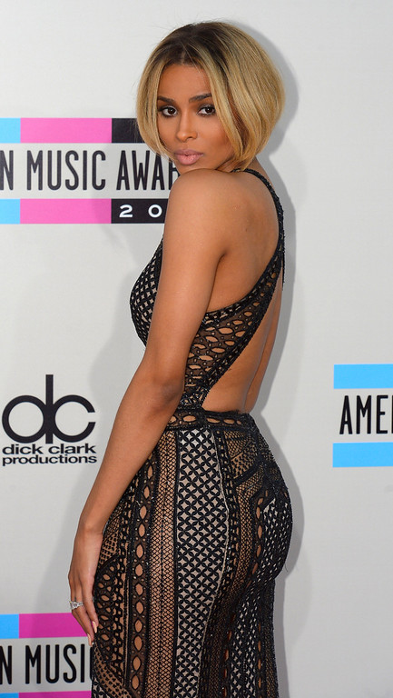 . Ciara arrives to the American Music Awards  at the Nokia Theatre in Los Angeles, California on Sunday November 24, 2013 (Photo by Andy Holzman / Los Angeles Daily News)