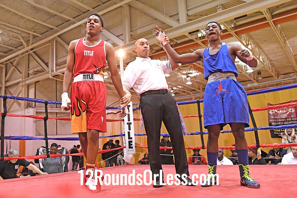 Bout 22 Chris Stallworth-Jones, Blue Gloves, Soul City, Toledo -vs- Keshawn Johnson, Red Gloves, Bar None, Clev, 147 Lbs, 14-15 Yrs