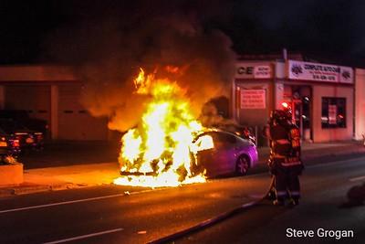 Sunrise highway car fire 9/1/19