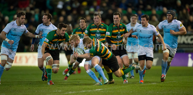 Northampton Saints vs Newcastle Falcons, Aviva Premiership, Franklin's Gardens, 2 January 2015