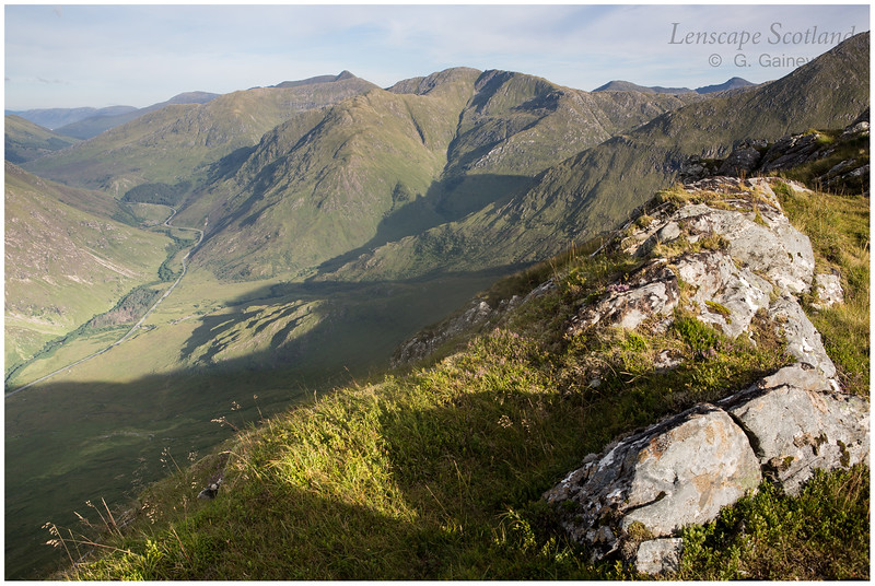 Glen Shiel and South Cluanie Ridge from Biod an Fhithich