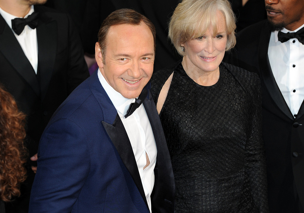. Kevin Spacey and Glenn Close attend the 86th Academy Awards at the Dolby Theatre in Hollywood, California on Sunday March 2, 2014 (Photo by John McCoy / Los Angeles Daily News)