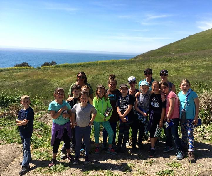 Ocean View School Oak Ambassadors-in-training go to the Pismo Preserve