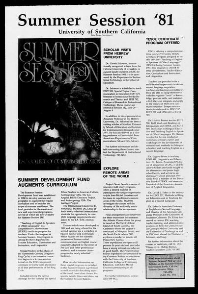 Daily Trojan, Vol. 90, No. 42, April 07, 1981