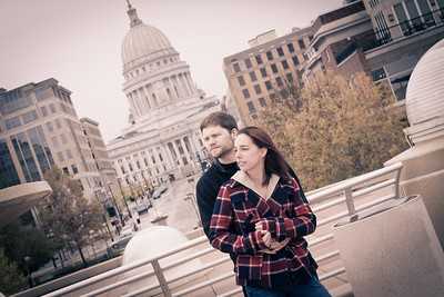 Ali and Brandon - Madison Engagement Photography