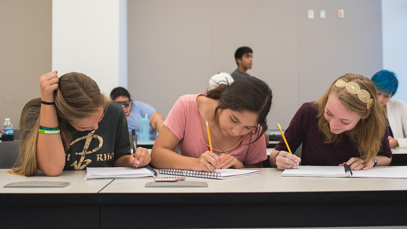Jordan Hamiter (left) Zariel Rivas and Olivia Colburn work on their project during the Young Authors Camp.  Learn more about the Young Authors Camp and our other writing camps here: http://bit.ly/2t34nRW