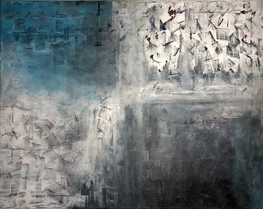 """Winter Storm"" (acrylic) by Amanda June"