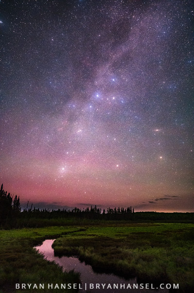 Cassiopeia and Perseus and the Milky Way Creek