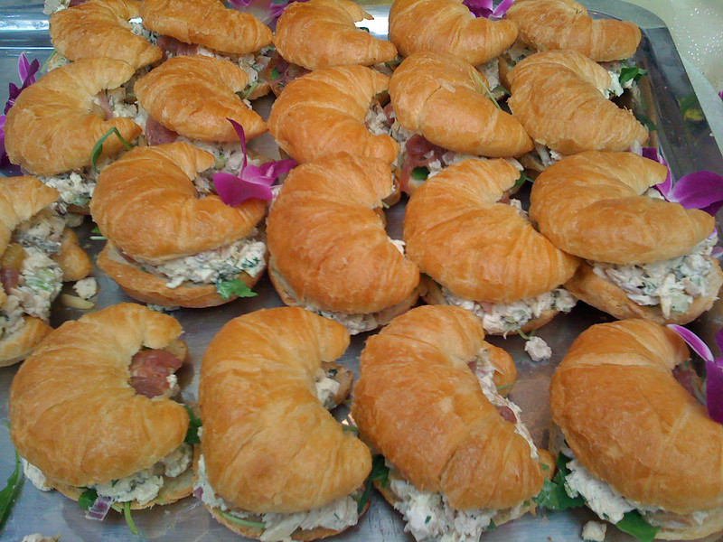 Gourmet Chicken Salad Sandwiches at #TasteCLT .  The Croissants were buttery & perfect!