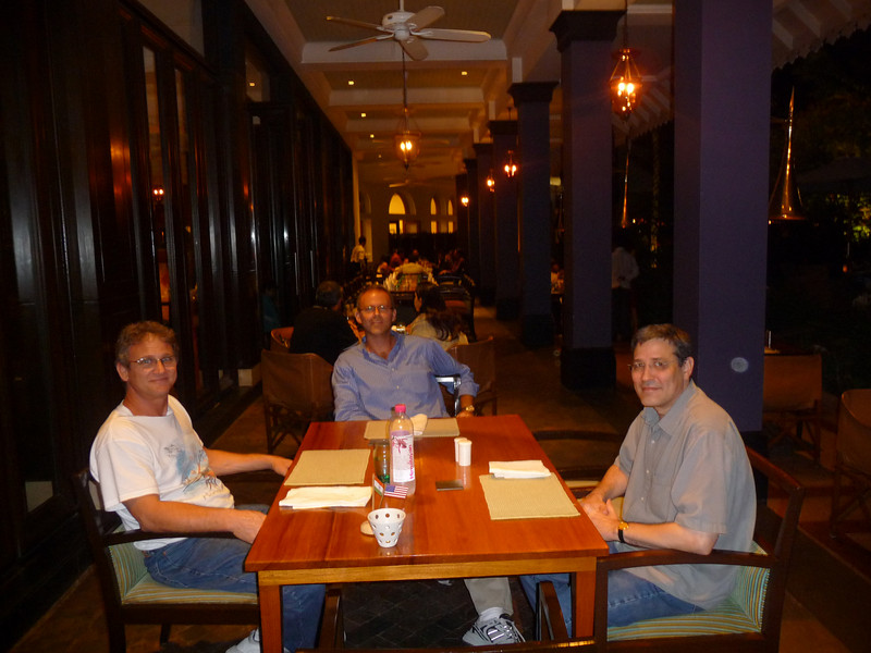 David, Darren, Frank at the hotel's main restaurant