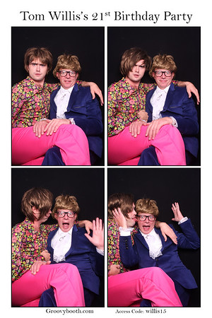Tom's 21st Photo Booth Gallery