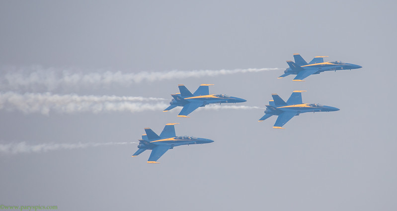 Blue Angles Arial Acrobatics