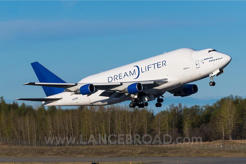Boeing Company 747-400LCF - N747BC - ANC