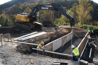 New Bridge Construction, Center Street, SR209, Tamaqua (10-26-2011)
