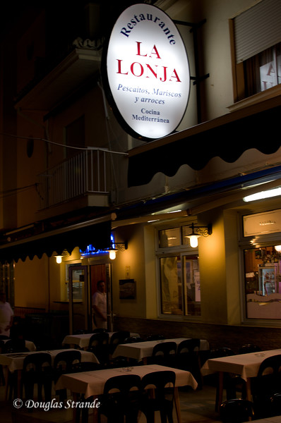 Sat 3/12 in Torremolinos (Costa del Sol): Seafood diner tonight at La Lonja