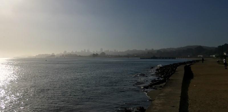 SF far away in the fog