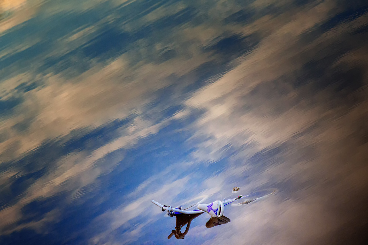 Bicycle and Clouds