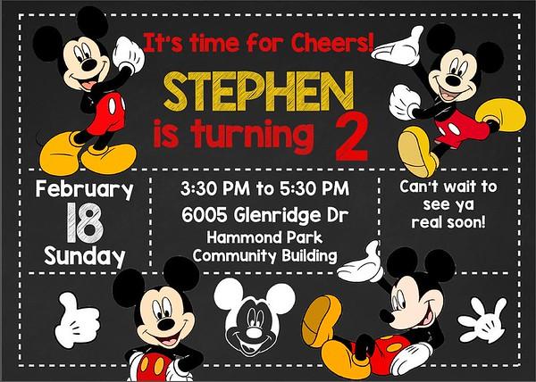 Stephen's 2nd Birthday