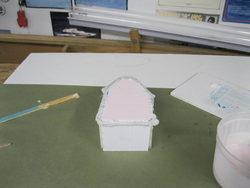 Silicone added to female half of the mold.