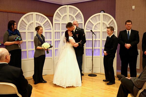 Monica and David Wedding Day.