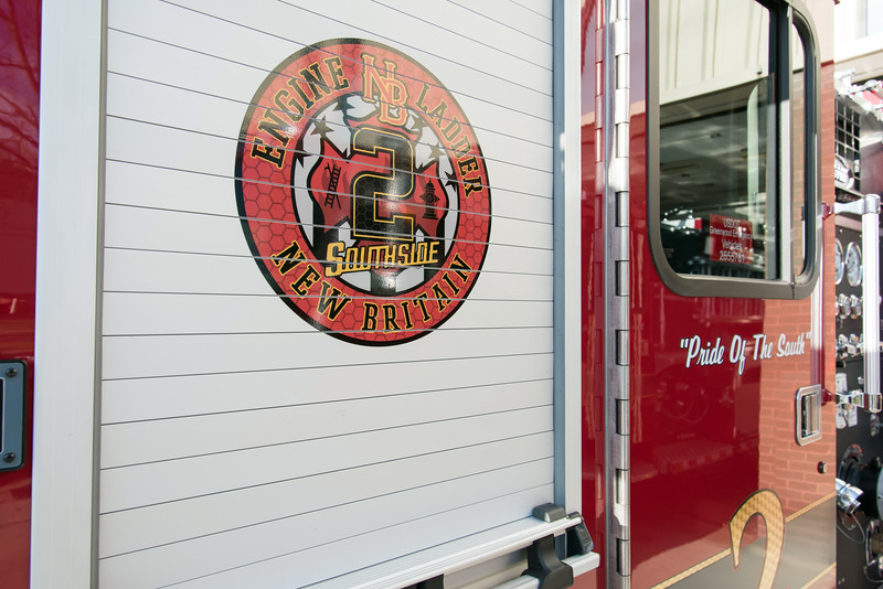11/14/18  Wesley Bunnell   Staff  The New Britain Fire Department unveiled three new fire trucks on Wednesday afternoon during a ceremony at their Beaver St headquarters.  Engine 2 which is nicknamed Pride of the South.