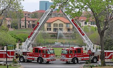 Irving Fire Department's New Tillers. Truck 3 /Truck 12 3-17