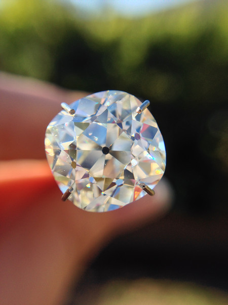 4.00ct Antique Cushion Cut Diamond, GIA K, VS2