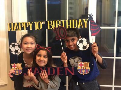 Jayden's 10th Birthday