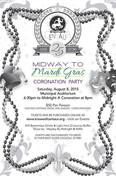 2015 - 08 - 08 Centaur Midway To Mardi Gras Coronation