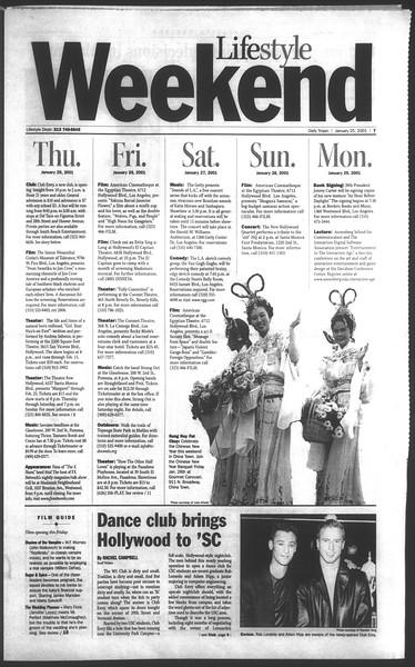Daily Trojan, Vol. 142, No. 11, January 25, 2001