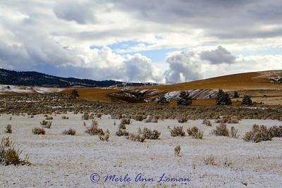 Eastside of Bitterroot Valley in Oct snow storm