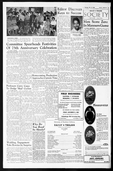 Daily Trojan, Vol. 55, No. 31, November 05, 1963