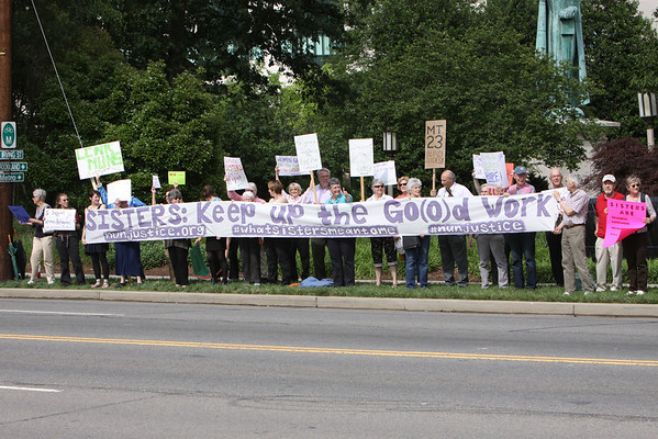 Rally for Sisters Week Two at USCCB Headquarters D.C.