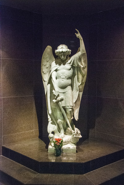 "<a href=""http://www.stmichaelshospital.com/about/angelstory.php"" target=""_blank"">St Michael's Hospital Urban Angel</a> - NW lobby. Purchased by the founding sisters <br>with unknown provenance  but determined to be from the same marble quarry as Michelangelo's Pieta."