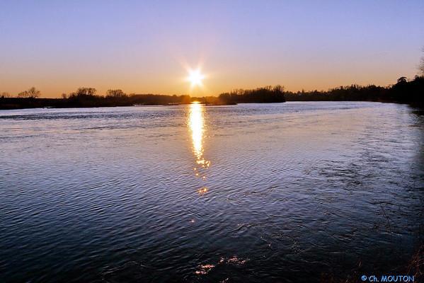 Coucher de soleil sur Loire - St Ay