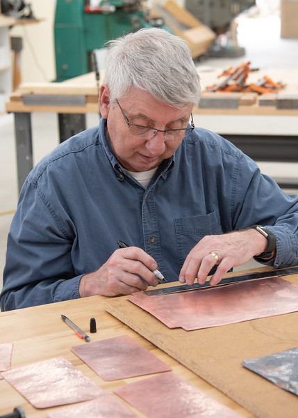 Arts & Crafts Style Hammered Copper Boxes with Joe Mross